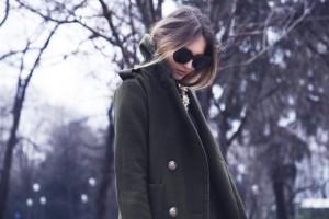 burberry military grren coat
