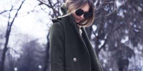 burberry military grren coat