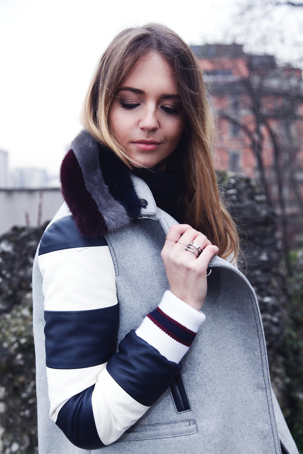 fay coat stripes- how to wear stripes