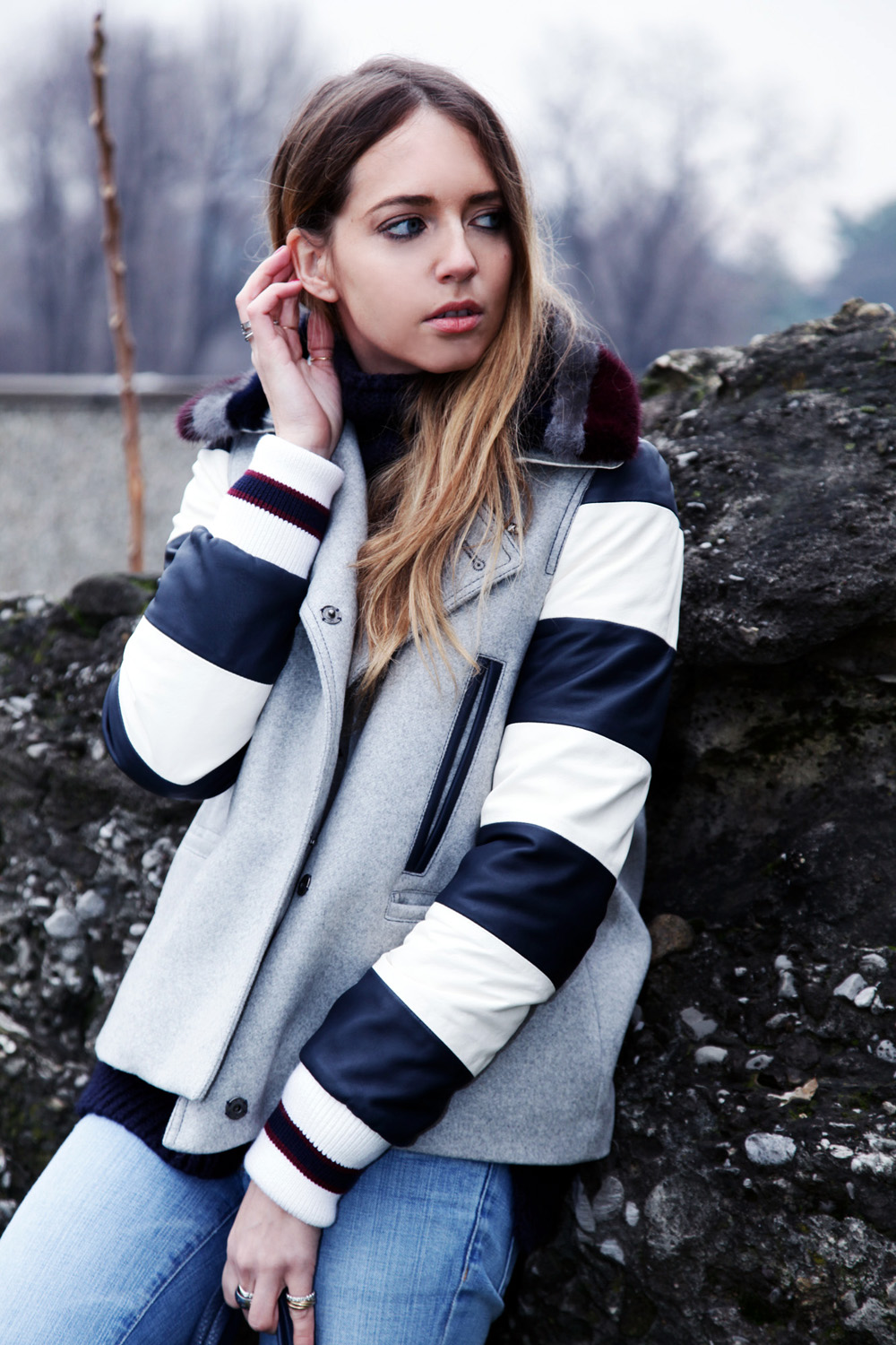 stripes coat