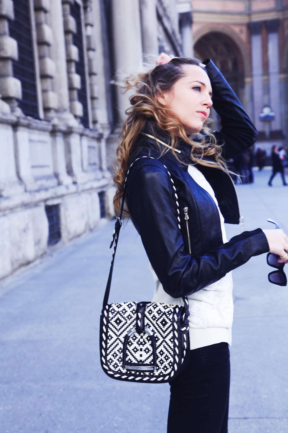 leather jacket twinset spring 2015