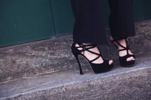 miu miu suede shoes black