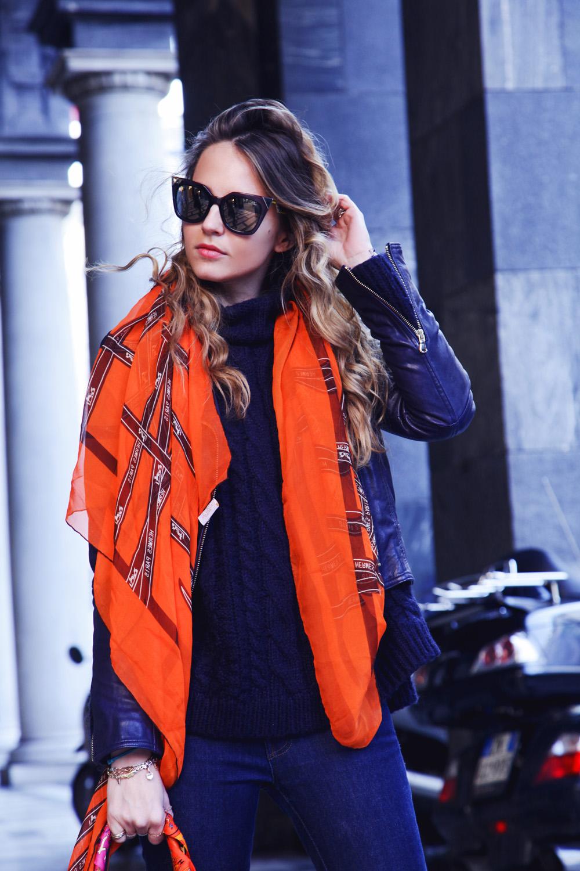 orange hermes foulard