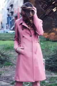 Atos lombardini pink coat