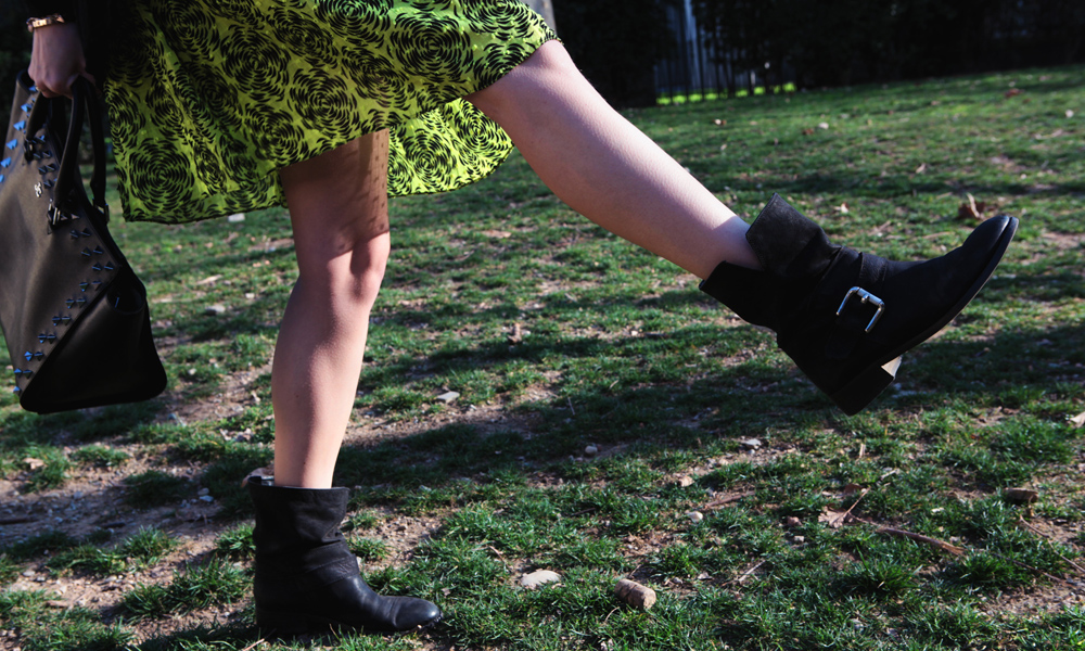 black biker boots sisley