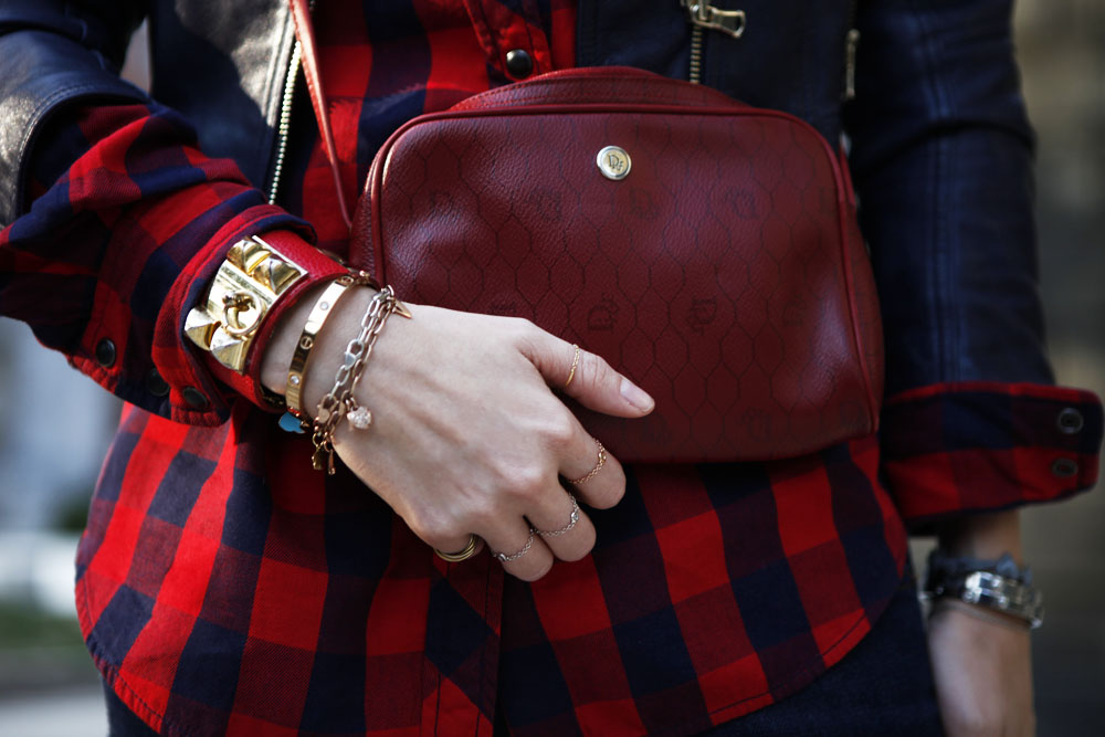 christian dior red shoulder bag