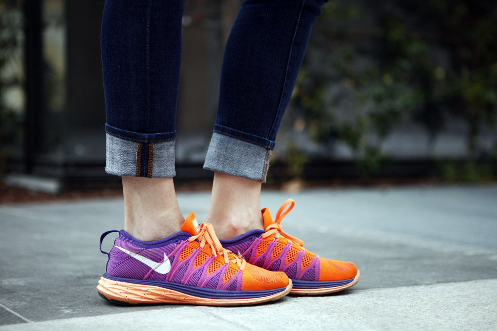 nike sneakers lunar orange