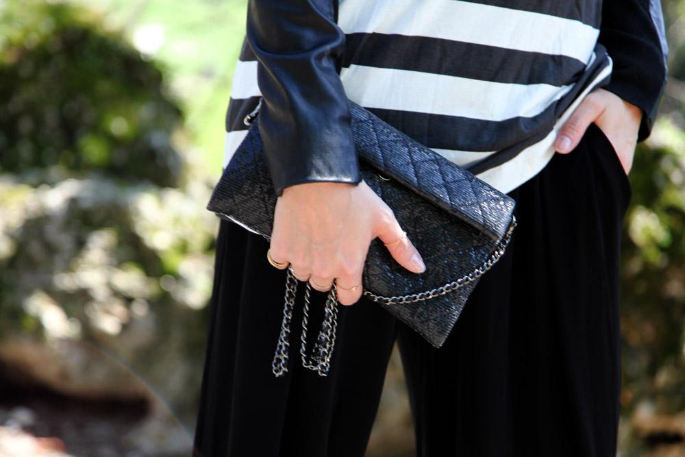 chanel 2.55 bag silver details
