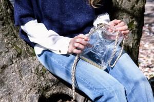 chanel plexiglass bag