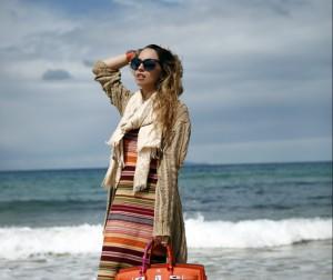 orange sea look