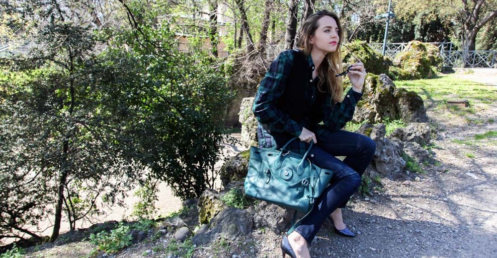 ricky bag ralph lauren green
