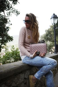 chanel pink accessories