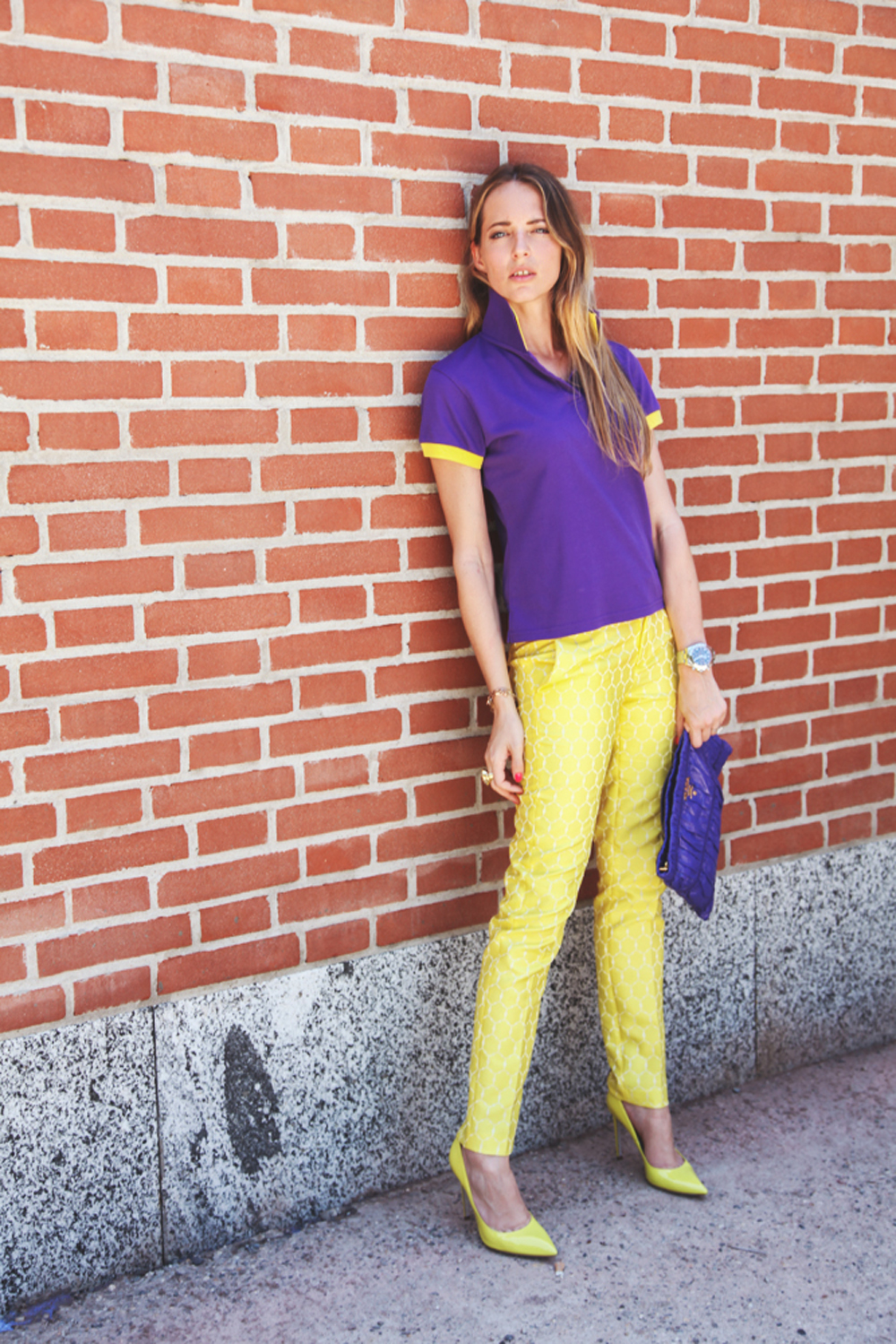 frankie morello yellow pants