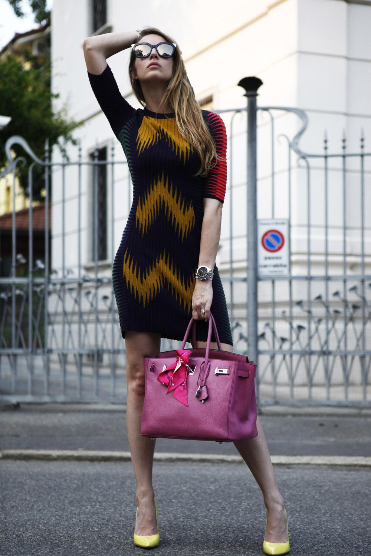 multicolor m missoni dress
