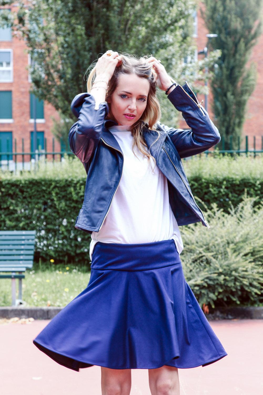blu a-line skirt
