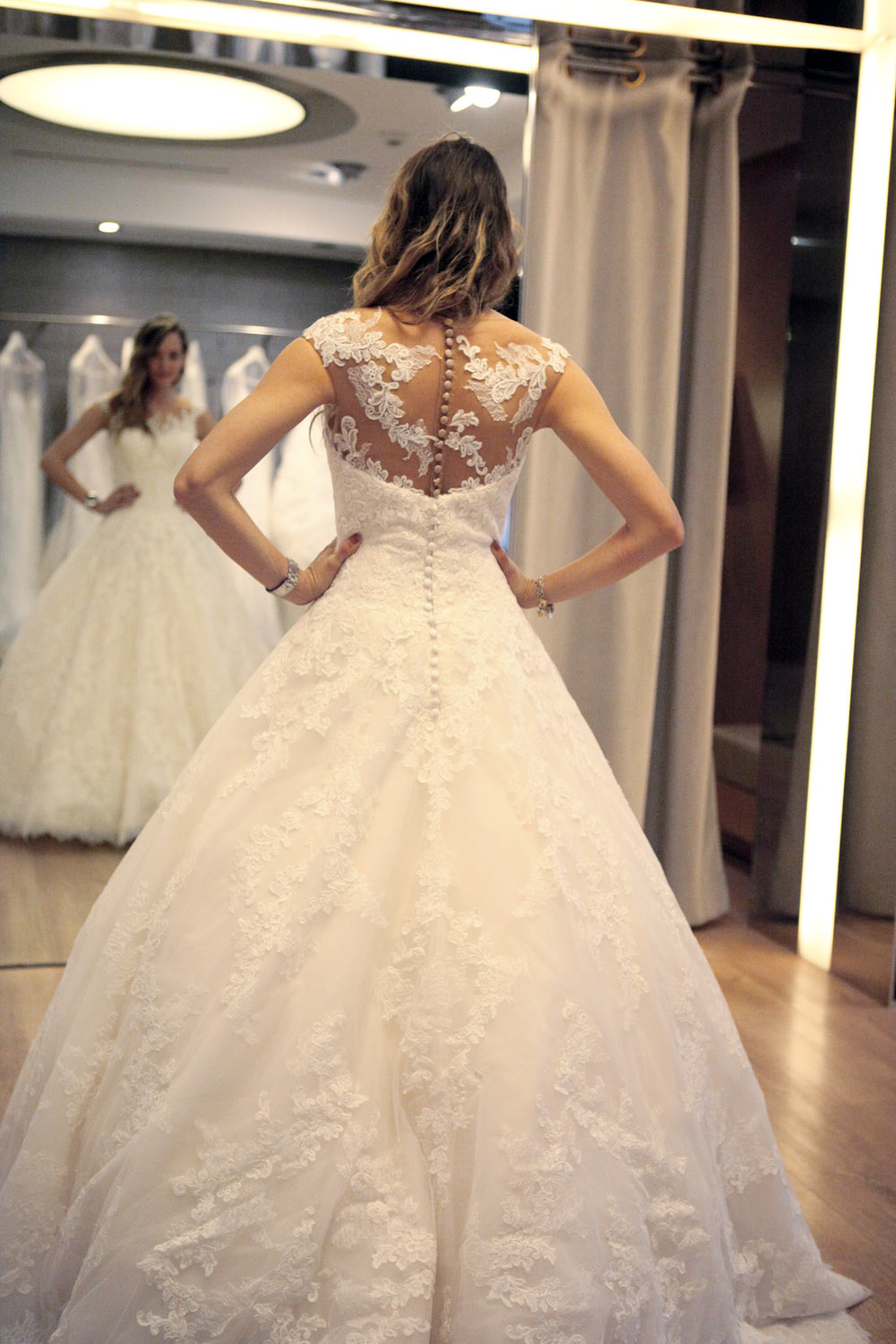 bride dress fitting 2015
