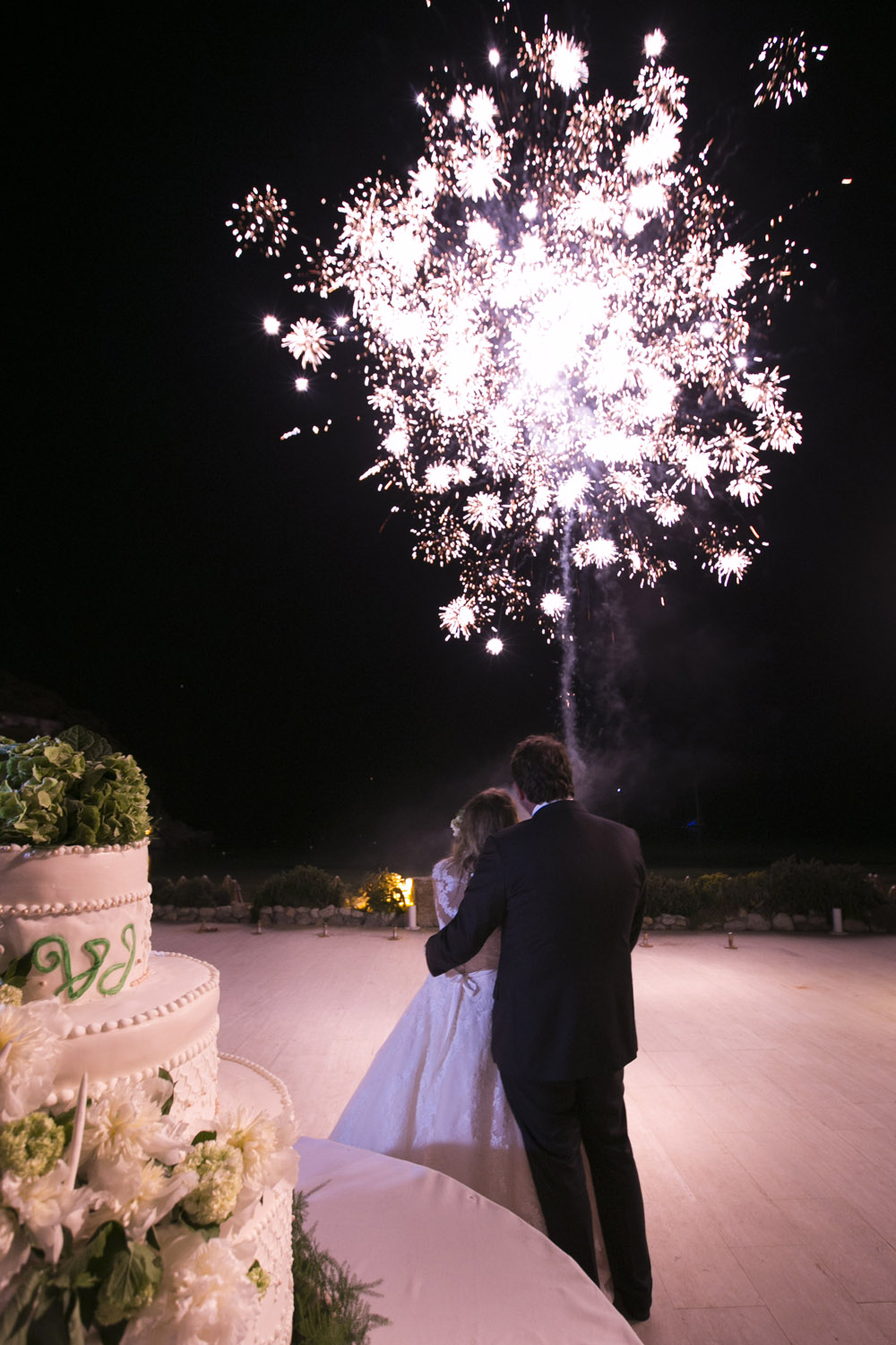 fireworks wedding