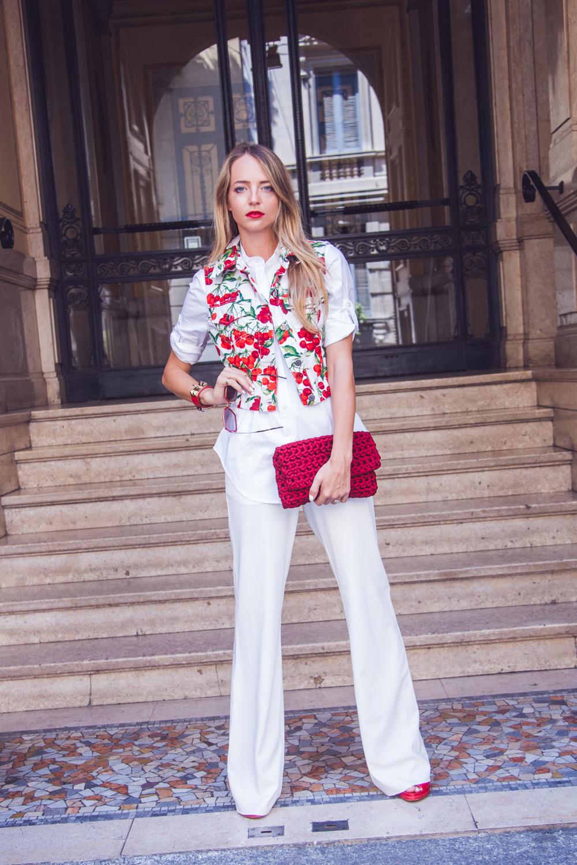 look estivo bianco e rosso 2015