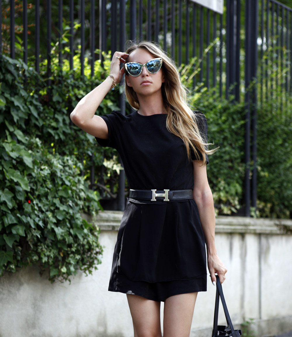 black summer outfit