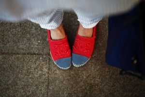 chanel red espadrillas