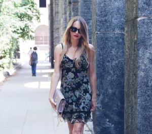 floral dress summer in the city