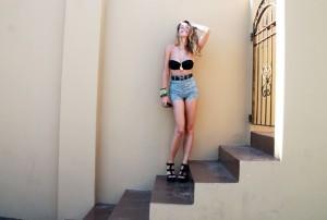 high waisted versace shorts