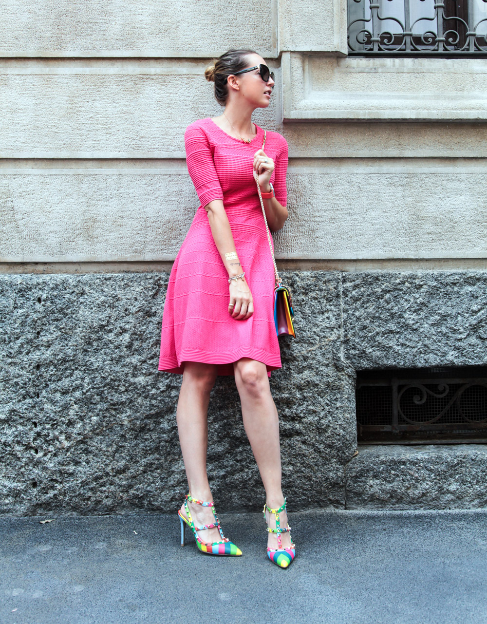 mmissoni fucsia dress