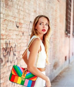 rainbow bag valentino summer look