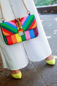 valentino rainbow bag size big