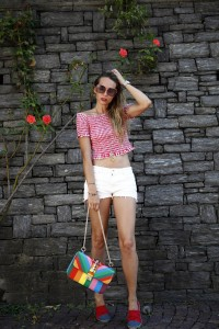 red and white summer look