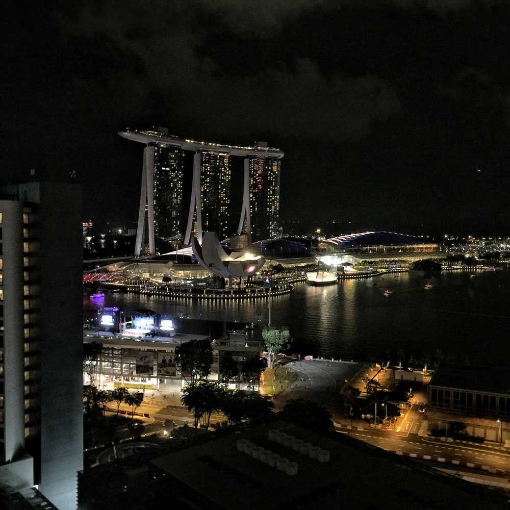 singapore marina bay by night