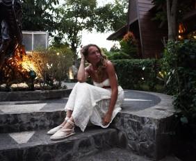 total white summer dress