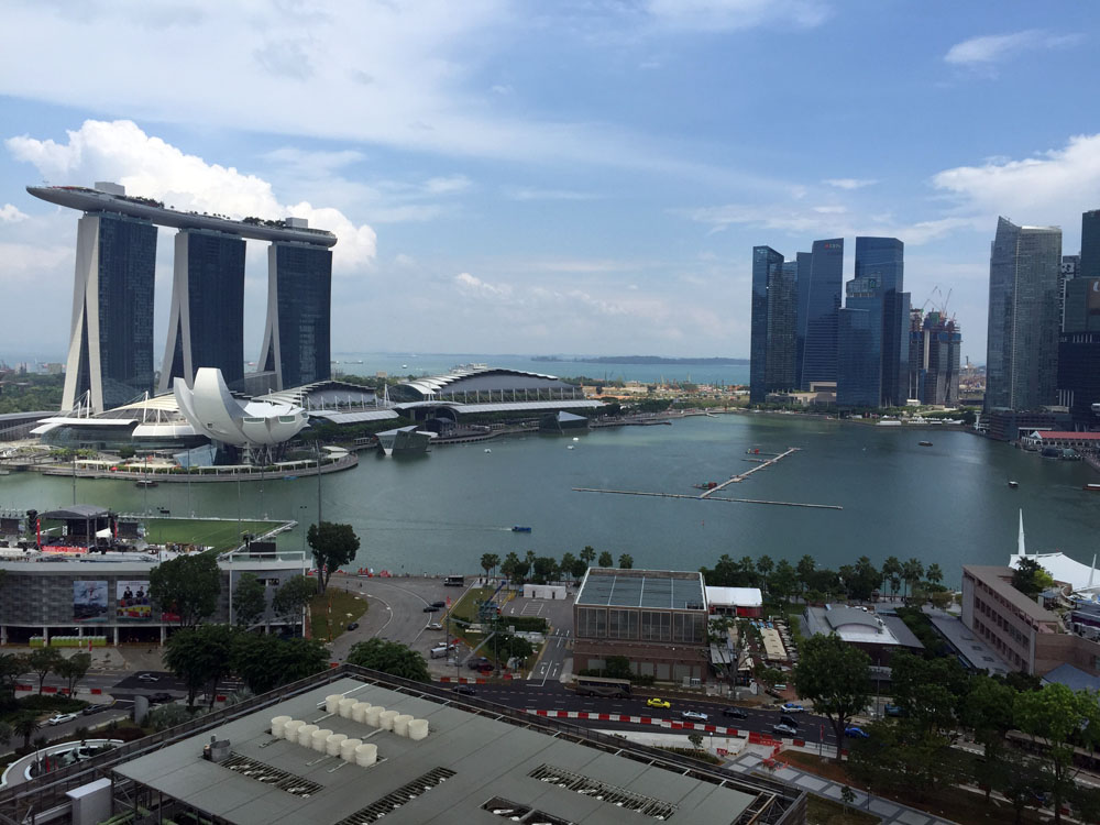 view from singapore marina bay