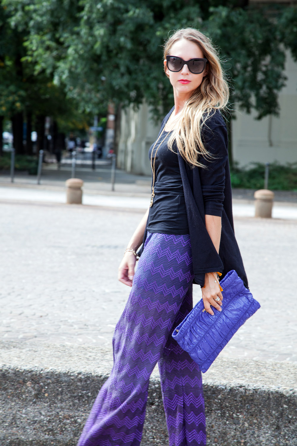 purple mmissoni pants