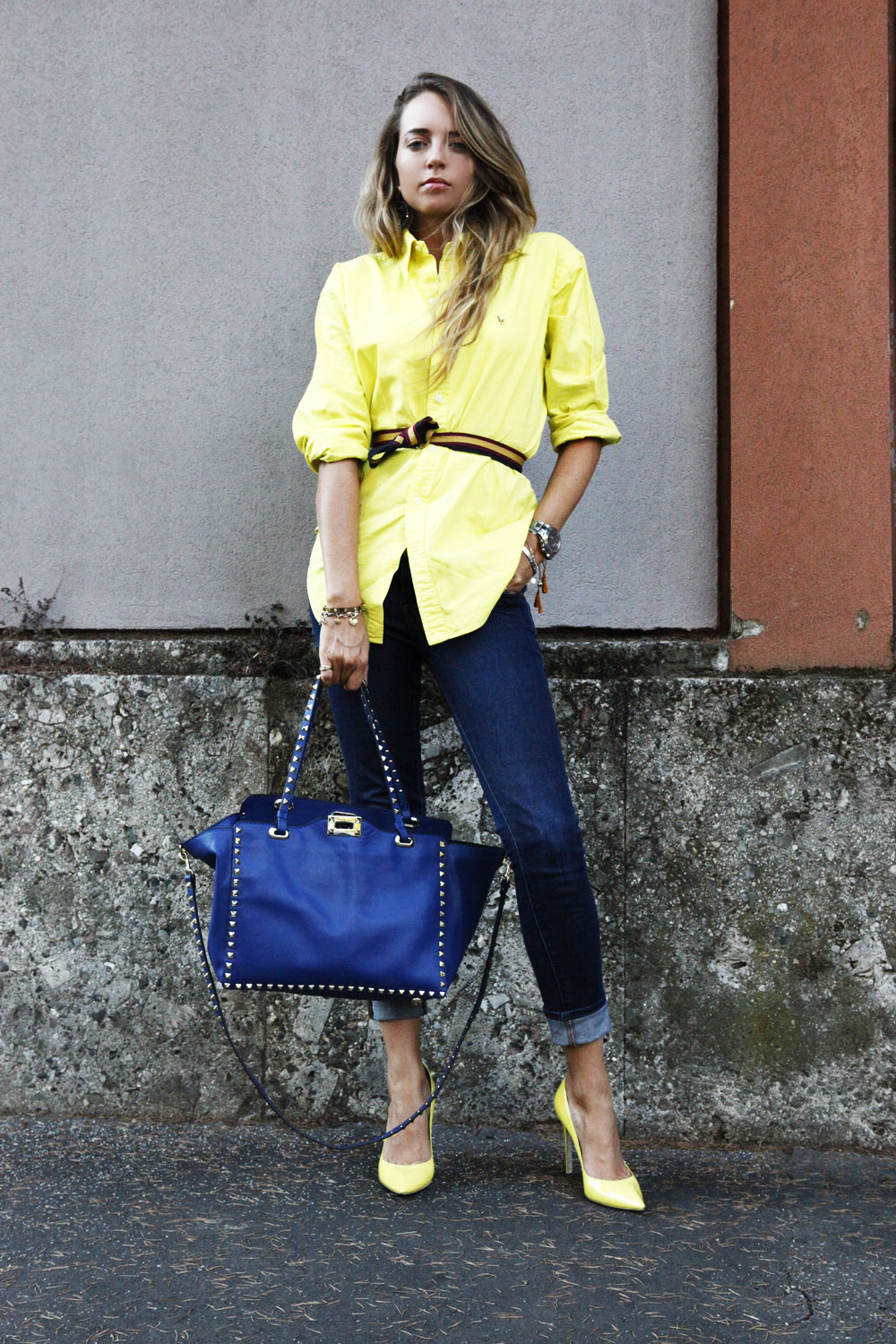 ralph lauren yellow shirt