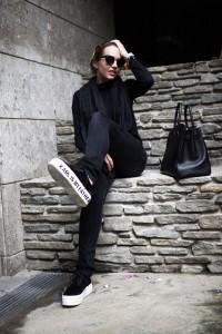 black casual look