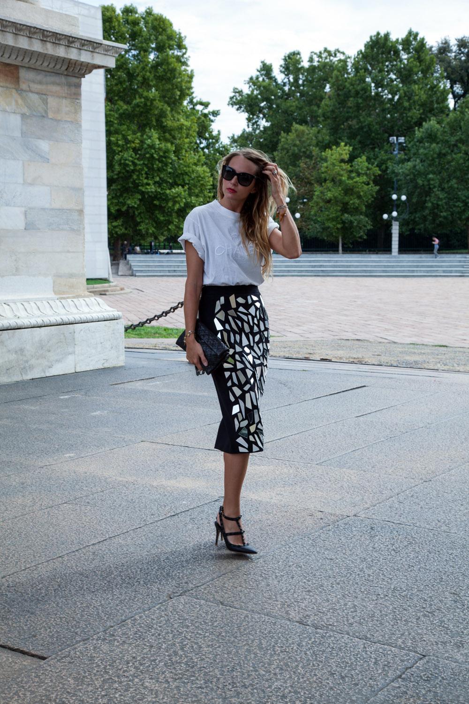 elegant pencil skirt
