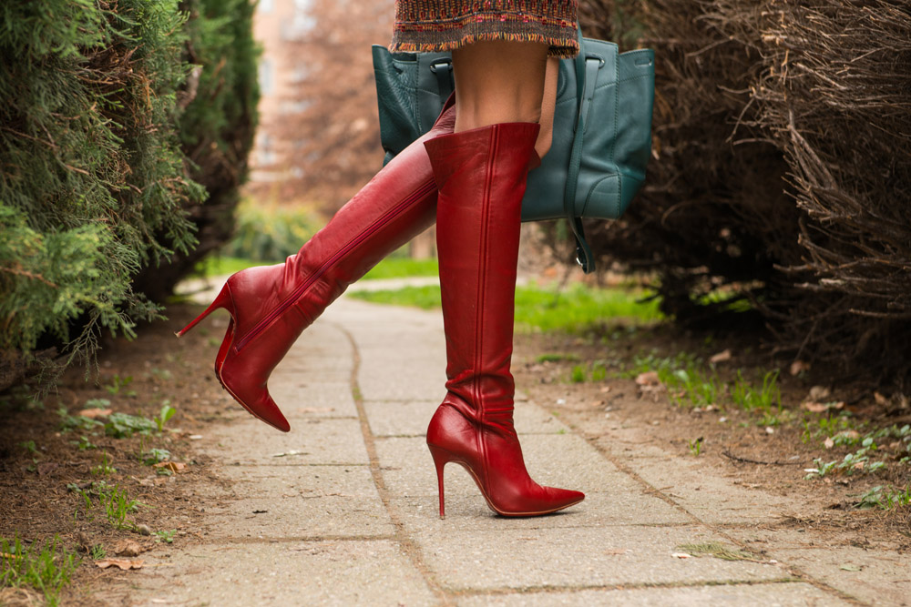 louboutin red boots