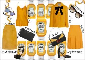 mustard skirt outfits