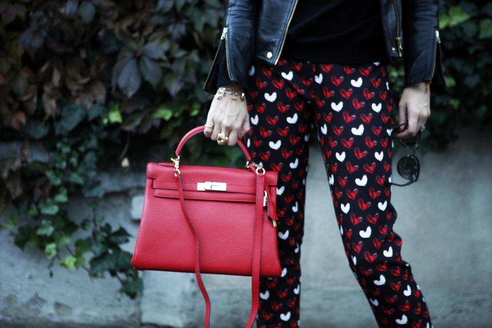 pantaloni a cuori blugirl les folies fall 2015