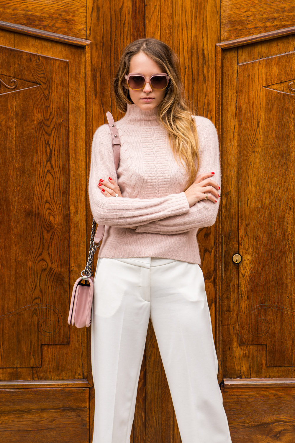 white pants winter trend