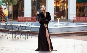 abito nero lungo