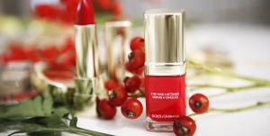 nail red dolce gabbana
