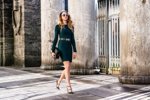 What to wear with a green dress