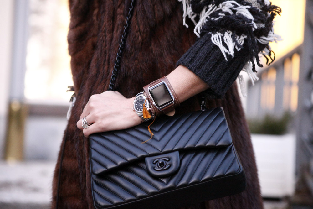chanel 2.55 black bag