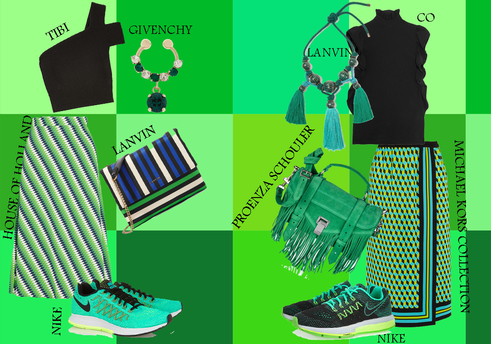 Green looks: how to match different tones of green