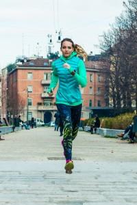 la giusta posizione per correre