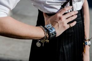 hermes collier de chien black and silver