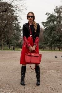 abito rosso come indossarlo