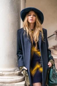 blu bcbg hat
